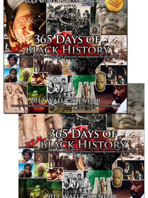 365 Days of Real Black History Collectors Edition Wall Calendars (2011 | 2012)